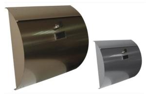 תיבת דואר מודרנית עם חזית עגולה